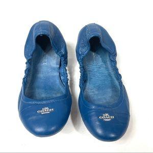 COACH Blue Slip On Ballet Flats 5